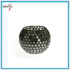 Hot sale black mirrored glass mosaic vase with decoration