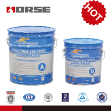 High performance two part epoxy steel adhesive