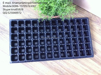 72 Cell Black PS Material Plastic Plant Nursery Seedling Growing tray for Seed Breeding
