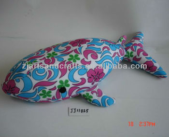 Spandex /microbeads whale design /soft toy