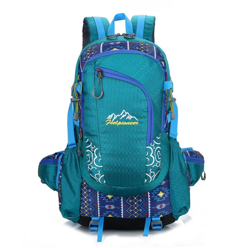 Fashion Printed Lightweight Waterproof Climbing Mountain Bag Outdoor Sport Camping hiking Backpack 40L
