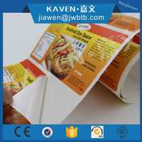 Full Color Print Label Stickers for Food and Food Packaging