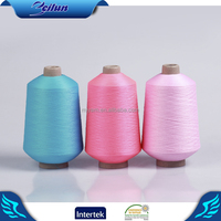 Cheaper Colored high stretch polyester ring spun yarn for knitting machine and socks