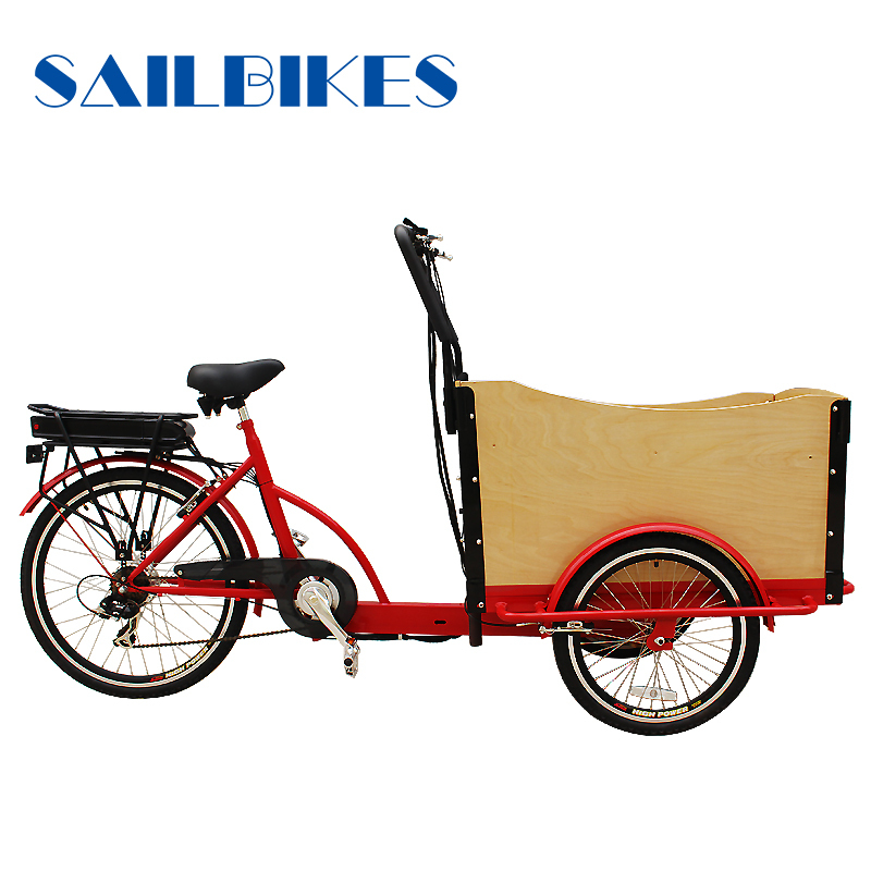 Three wheels cargo delivery bike
