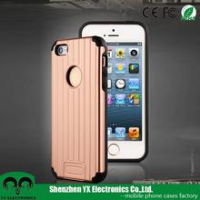 fashion suitcase PC TPU drop resistance cell phone case for iphone 5 5s se