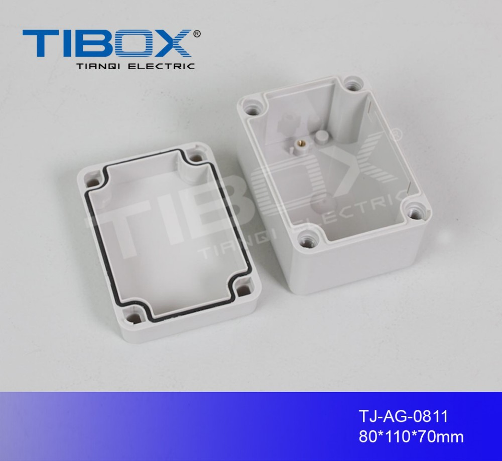 TIBOX Outdoor waterproof plastic transparent electric meter cabinet wall mount distribution box housing