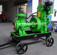 10 HP WATER COOLED PUMP SET WITH TROLLEY WITH 6X6 WATER PUMP