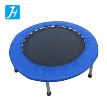 Chinese supplier circular mini indoor folding trampoline for child kid with bungee exercise