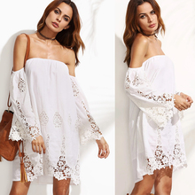 wholesale clothing women crocheted off shoulder dress