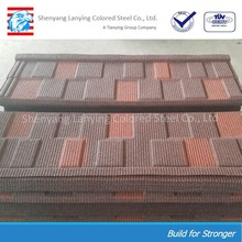 Cheap color stone coated roofing tile