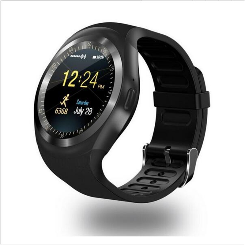 Bluetooth Smartwatch Y1 Smart Watch 2G GSM SIM App Sync Mp3 for IOS Android smartphone
