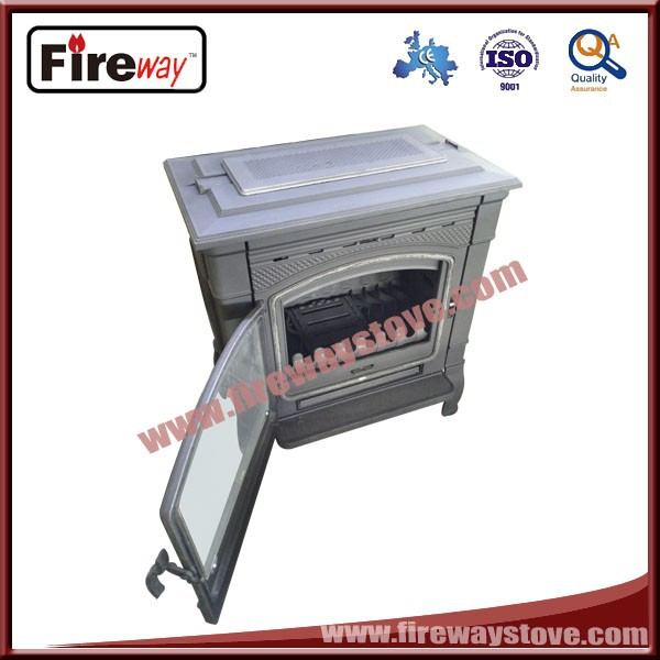 150mm flue size gray color cast iron fireplace with manufacturer price