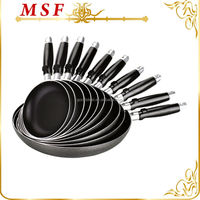 Happy call 10pcs aluminum frypan set cookware set with non-stick coating & marble painting
