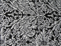 soft black and white knitting/knitted jacquard fabric for garment