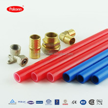 Rehau stype red color EVOH PEX pipe and fittings for heating
