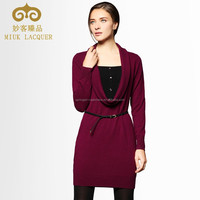 wide neck cashmere combo dress