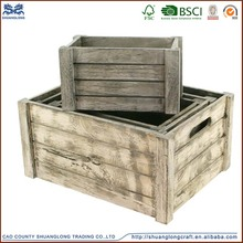 China supply cheap wooden fruits and vegetables crates for sale , used wooden crate wholesale
