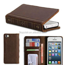 PU Leather Book style Slim Folio Case Cover Stand for Samsung S5