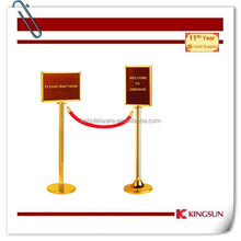 Crowd Control Rope Queue Barrier with A4 Sign Frame
