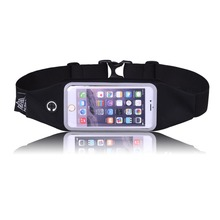 "2016 New Waterproof 4.7"" 5.5"" Sport Waist Bag Casual Running Belt for iPhone Samsung Smartphone"
