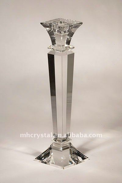 Clear Crystal Taper Candle Holder MH-1145