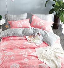 wholesale 100% cotton bed sheet flower design good quality printed bedding