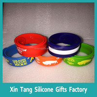 Sports Sweat Resistant High Visibility Safety Flash Led Wristband Wrist Band Running Glow Led Slap Bracelets Snap Band