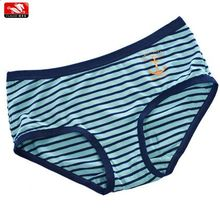 oem service young female wholesale yarn dyed printed stripe cotton seamless ladies underwear