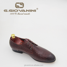 Hand - weave genuine leather loafers shoes for men