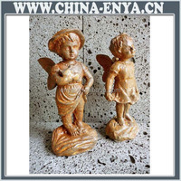Angel and cherub statues
