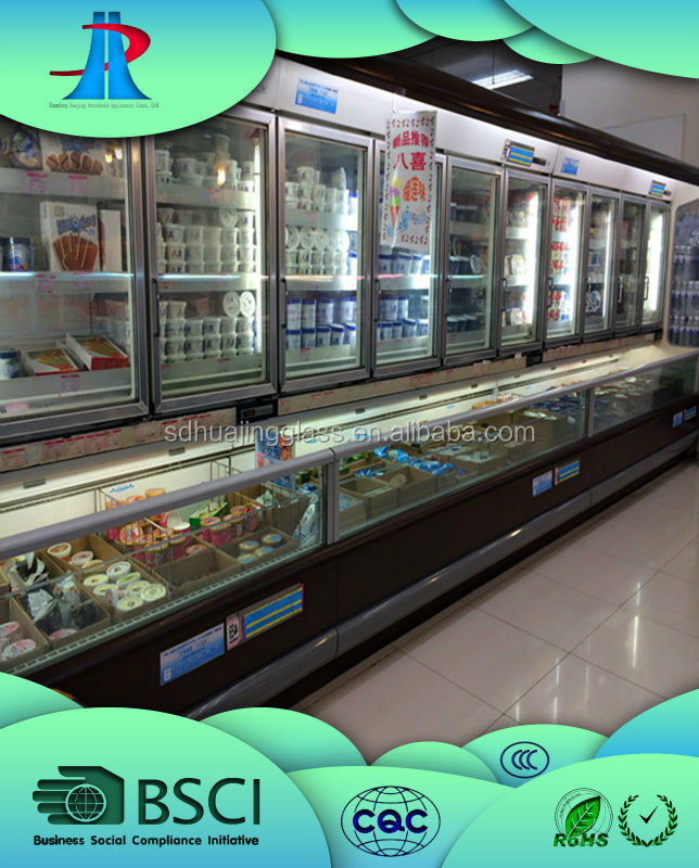 electric heated glass door for supermarket /commercial upright refrigerator