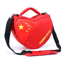 Caden stock promotion product cheap chinese heart triangle red pink dslr camera bag