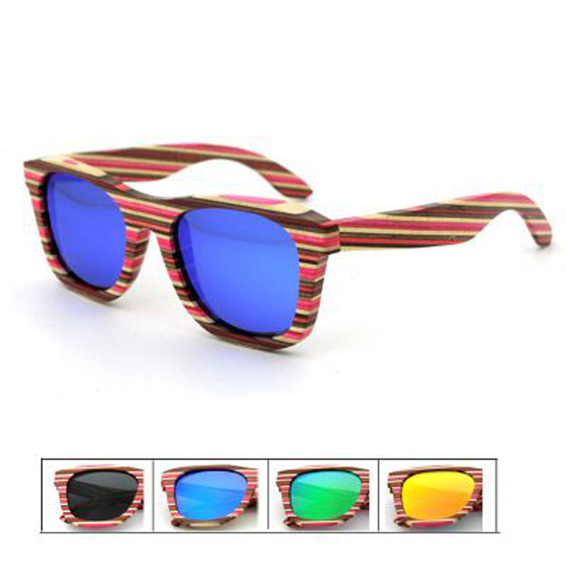 Wholesale fashion sun glasses polarized Lens bamboo temple for girls and boys