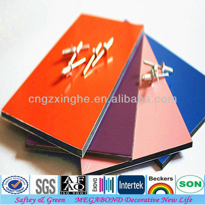Poly core panels for new advertising material construction sign board