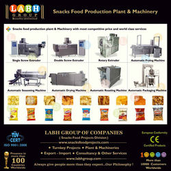 Best Corporation of Snacks Food Processing Making Plant Production Line Machines India l180