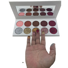 Private Label Make Up Cosmetics 10 Color Pressed Glitter Eyeshadow Palette