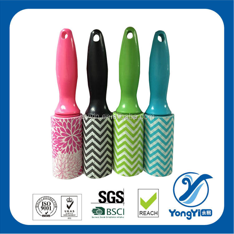 plastic roller lint brush roller with popular easy handle for cleaning pet hair cloth dust