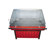 Supermarket Equipment Deli And Fresh Food Curved Glass Display Refrigerator