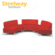 door to door half round red sectional sofas outdoor event hire