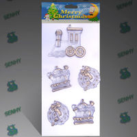 Clear Plastic Outdoor Christmas train decoration