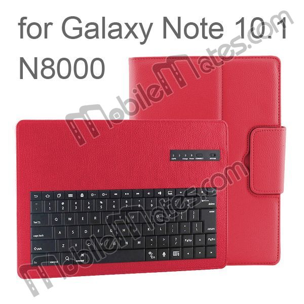 Bluetooth Keyboard Flip Leather Case for SAMSUNG Galaxy Note 10.1 N8000, New Product Made in China