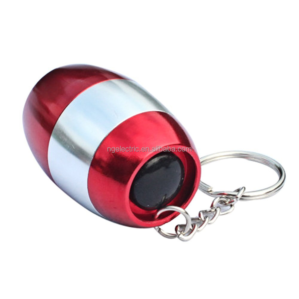 6 LED Aluminium Mini Keychain Light Promotioal Flashlight Egg Shape