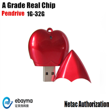 USB memory pendrive 16gb best saling usb flash disk 4gb usb flash drive heart shape