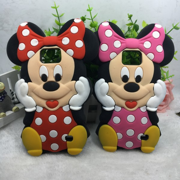 3d cartoon classical Minnie Silicone android phone case for samsung galaxy s2 i9100