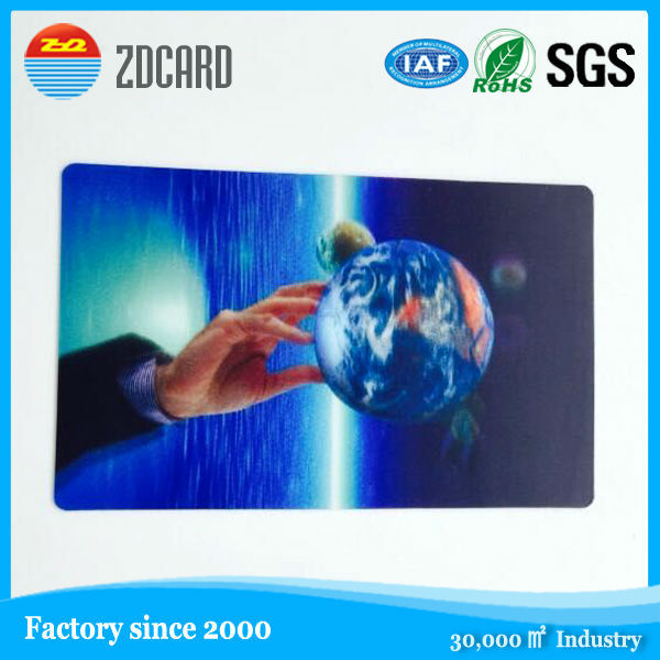 PP material 3D lenticular business card with dynamic image