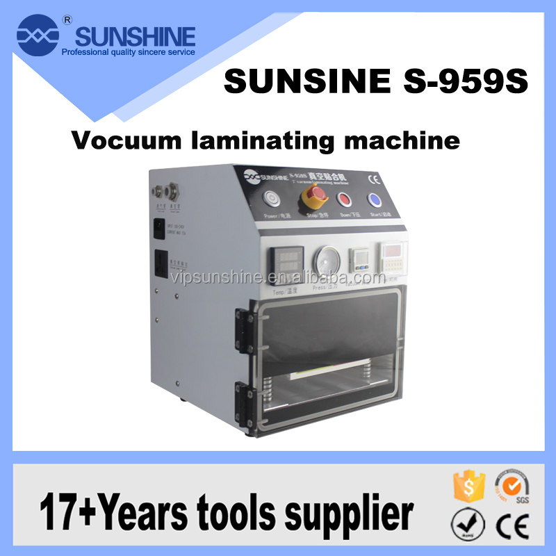 Wholesales Price Lcd Oca Dry Glue Laminating Machine With Outside Voccum Pump And Air Compressor