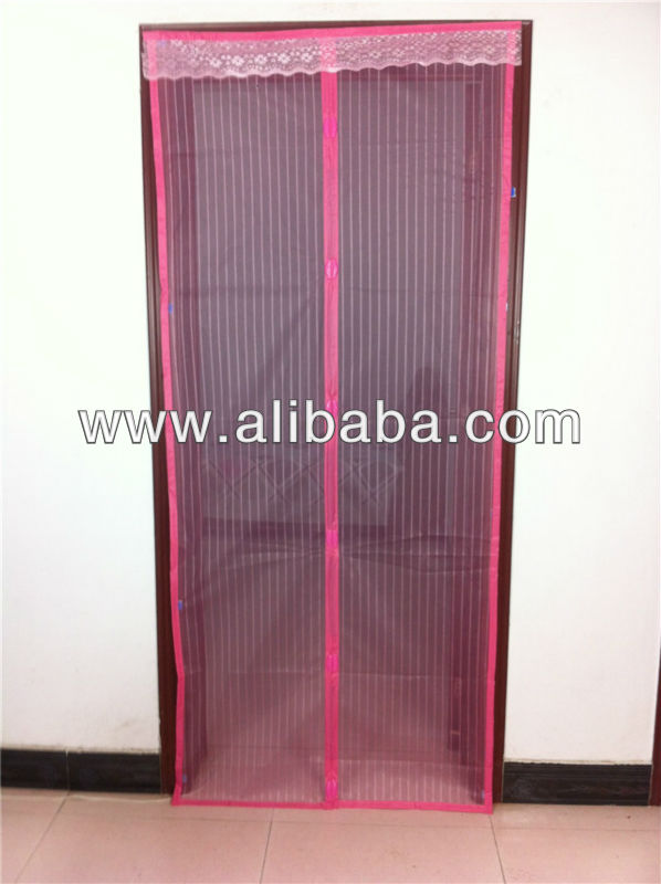 Magnetic door mesh screen curtain fly curtains for doors close automatically