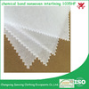 high quality chemical bond nonwoven interlining fabric backing paper 1035HF