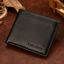 New Business Curewe Kerien Men Bifold Wallet Leather Credit Card Holder Cluch Male's ID Case Purse carteira Short Wallets Mens