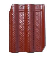 The 2016 best quality luxury glazed heat insulation purplish red roof tiles roofing materials
